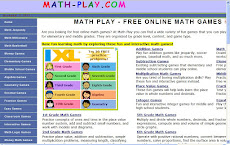 MATH PLAY - FREE ONLINE MATH GAMES