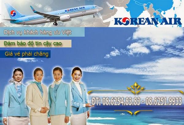 Mua vé máy bay Korean Air ở đâu