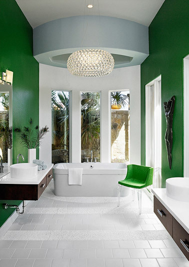 Pantone 39 s 2013 color of the year emerald driven by decor for Emerald green bathroom accessories