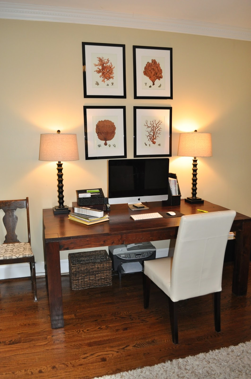 The collected interior re purpose a dining room table for Dining room into office