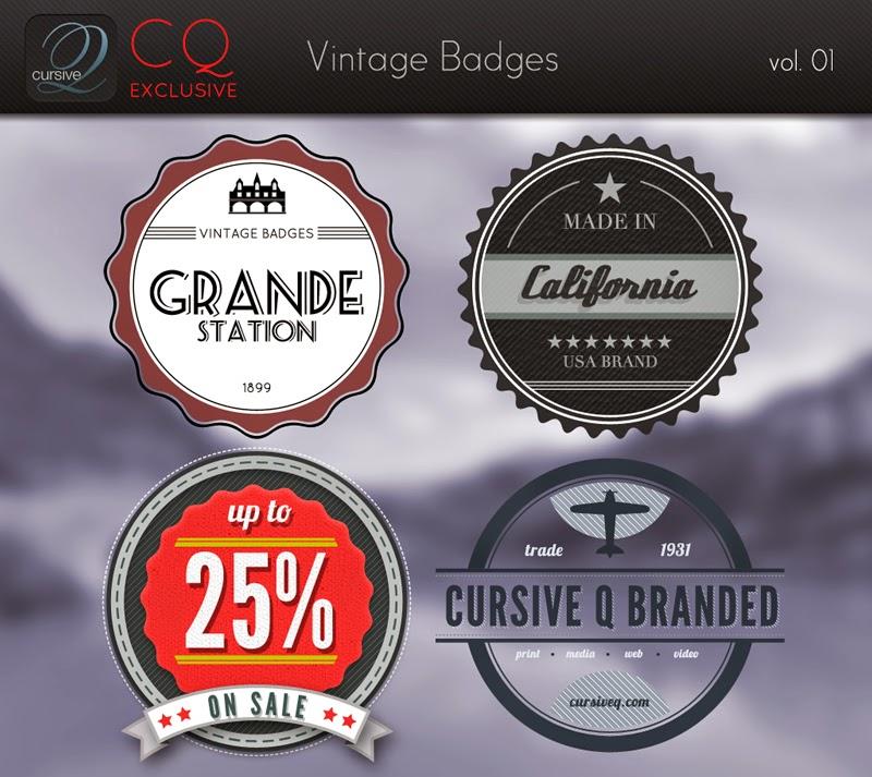 Free Vintage Badges PSD