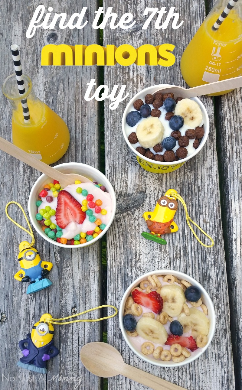 Minions Cereal Parfait Bar; find the 7th Minion toy