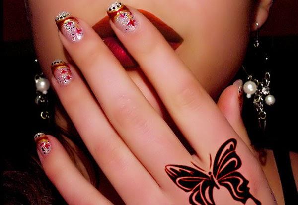how to do nail art designs at home violet fashion art. Black Bedroom Furniture Sets. Home Design Ideas