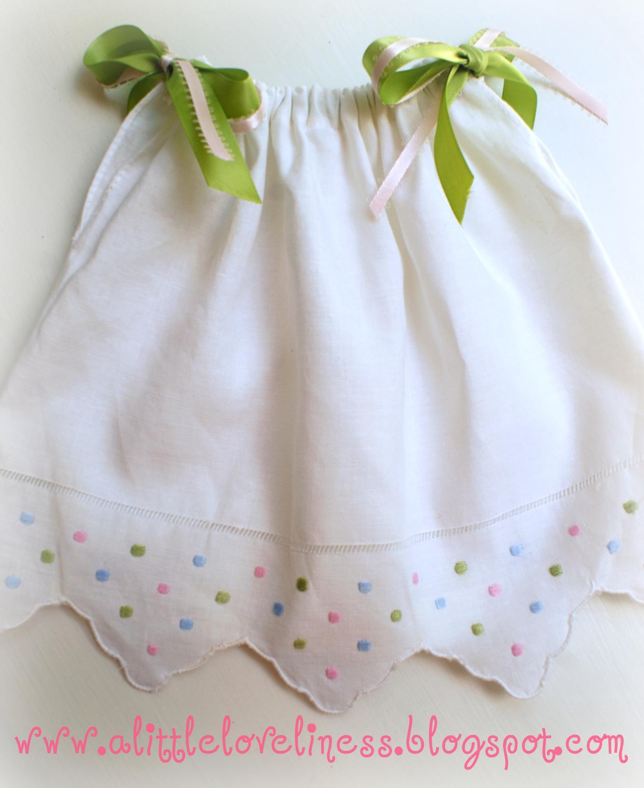 A Little Loveliness Tea Towel Pillowcase Doll Dress Tutorial