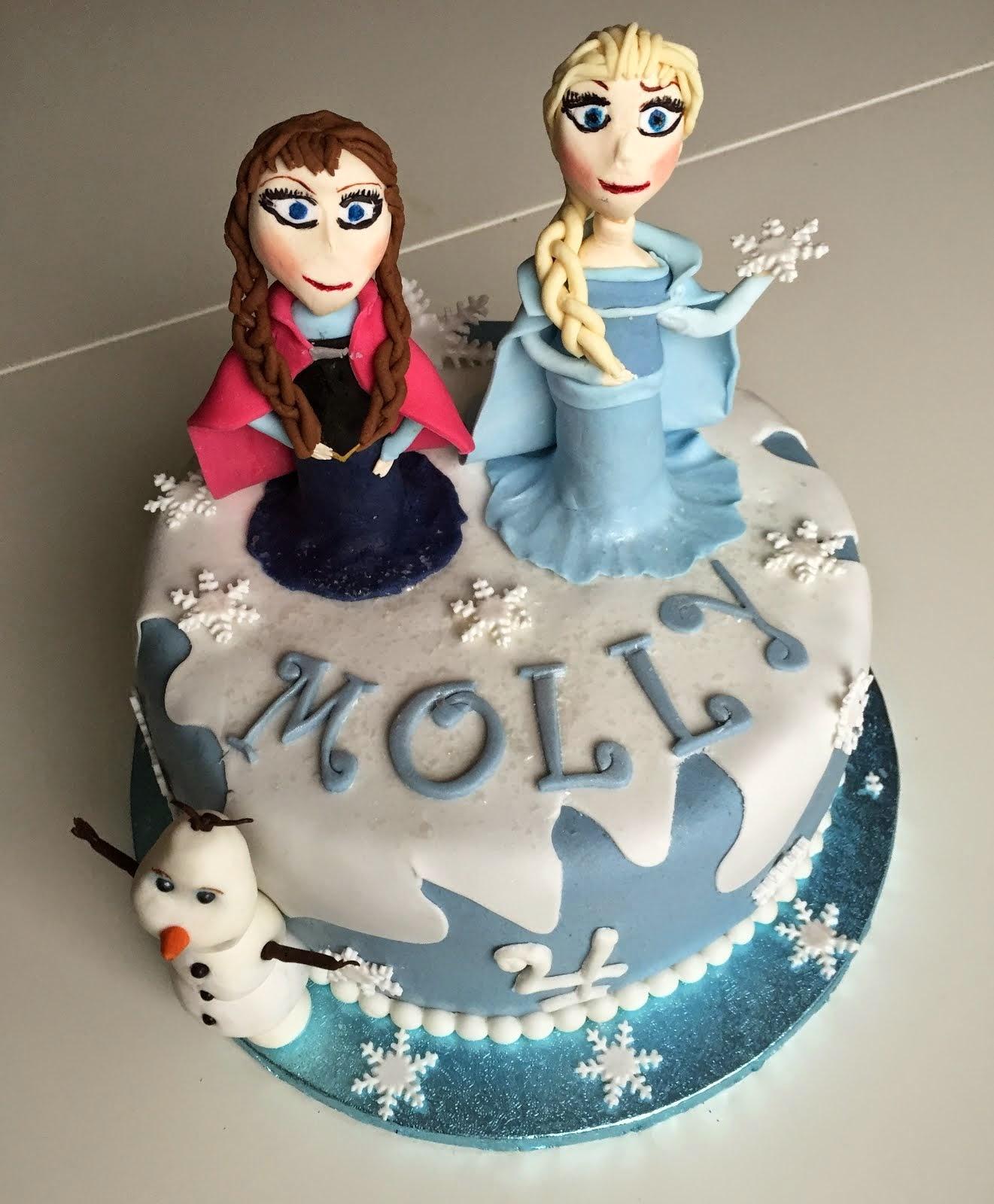 Frosttårta med Elsa Anna och Olof