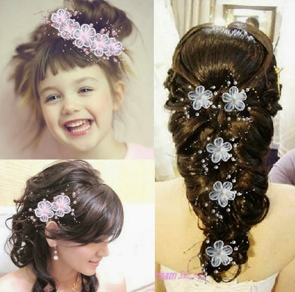 Wedding Hairstyles For Long Hair With Accessories Flowers Creativehozz About Home Decorating