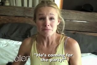 WISH I WERE AS FUNNY AS KRISTEN BELL