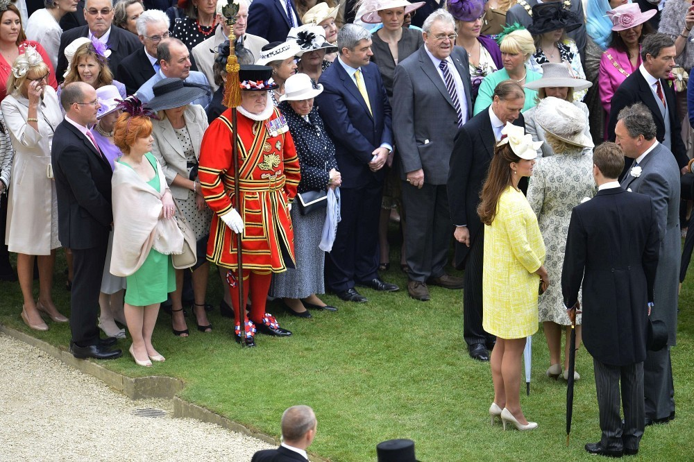 Kate Wears Emilia Wickstead To Garden Party At Buckingham