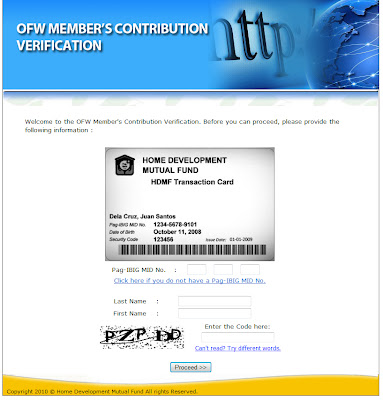 Popular Manila: Pag-ibig OFW Member's Contribution Verification: How