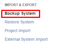 Use JIRA Backup functionality