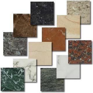 muestrario de marmol de diferente tipos