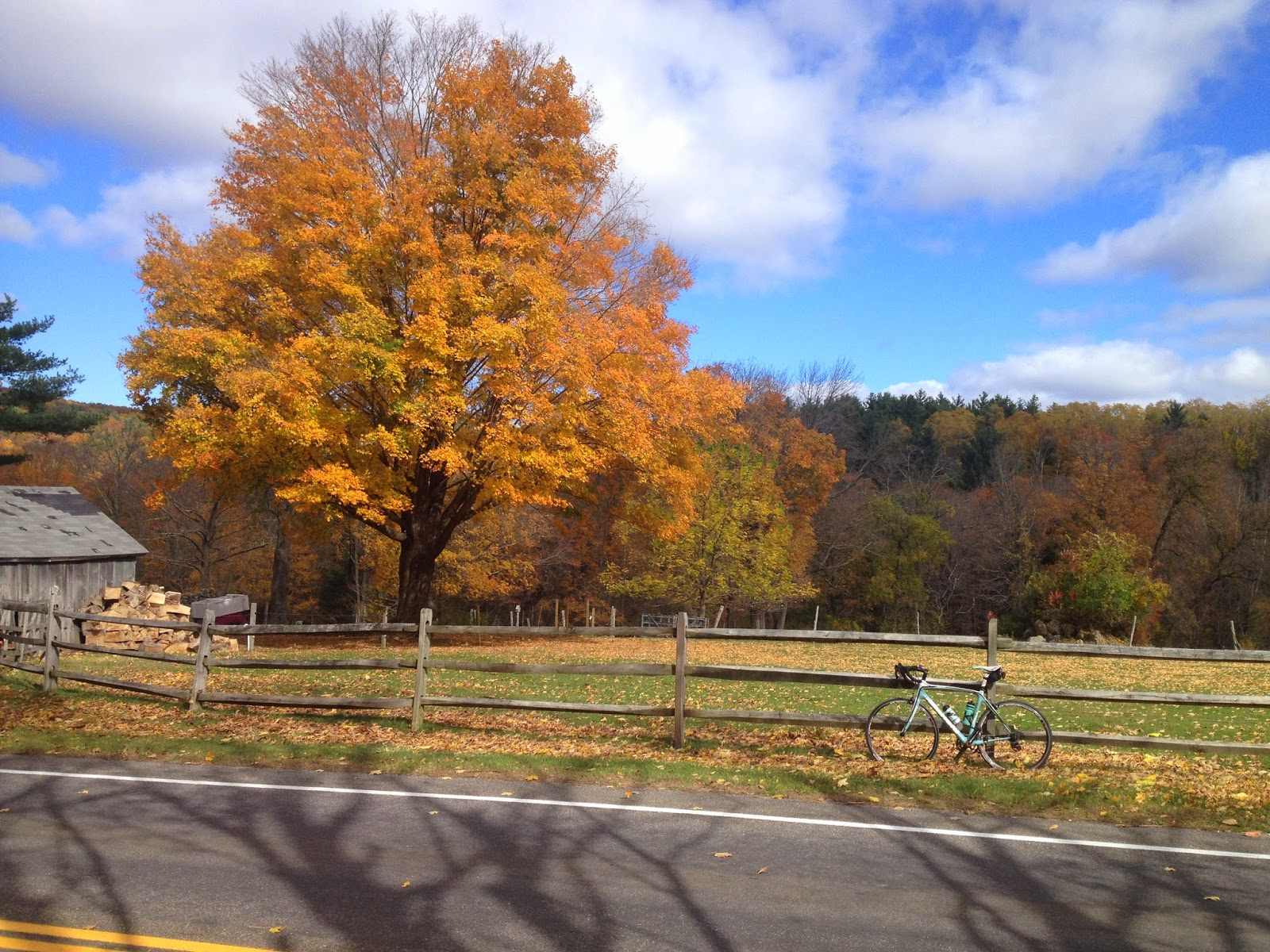 Fall cycling in Litchfield County, Connecticut
