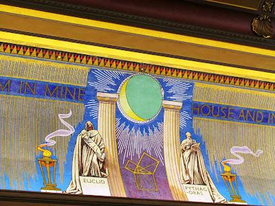 Grand Temple, London, Freemasons, Pythagoras, 47th Proposition of Euclid