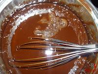 Tarta puro chocolate-cobertura hecha