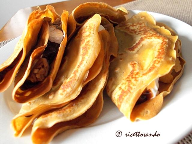Crepes di castagna ricetta di base per dolci