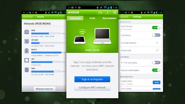 AirDroid aplicativo para android