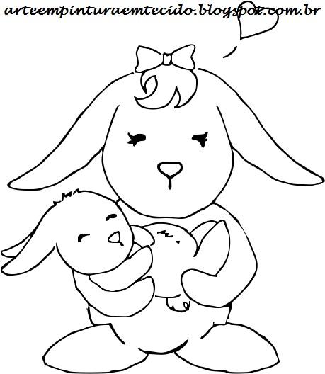 imagens para colorir coelho de pascoa - 100 moldes de coelhos para colorir ou imprimir e fazer