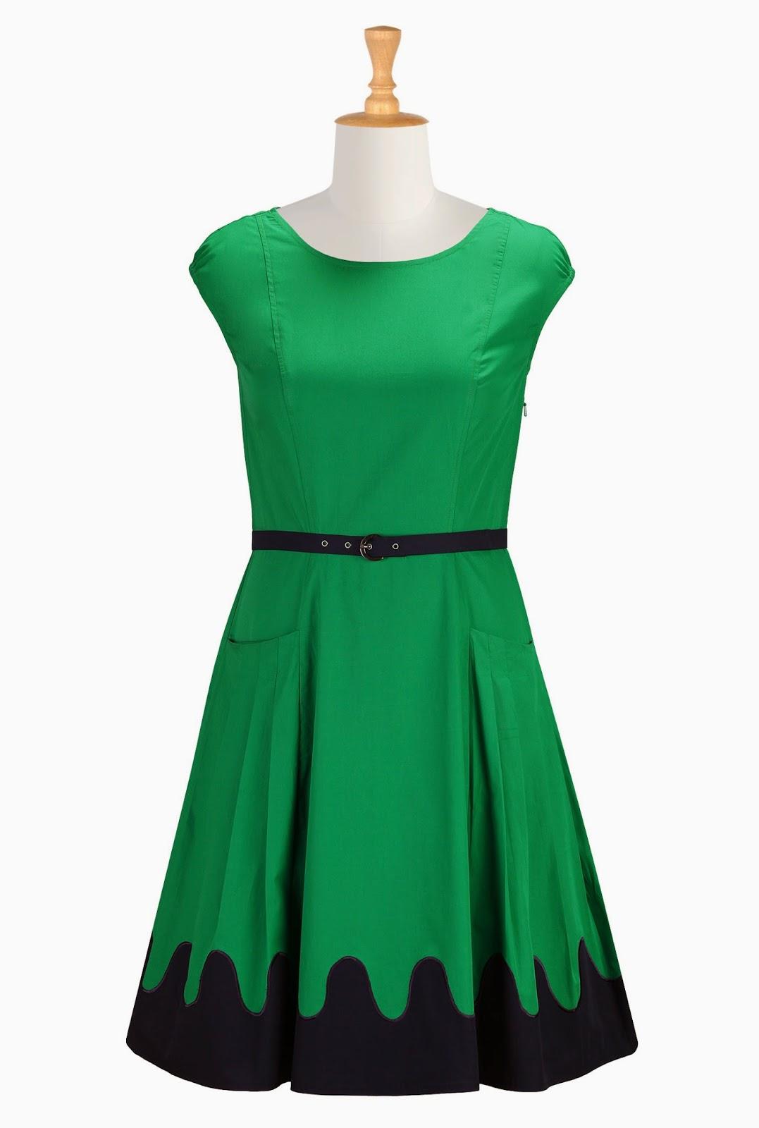 http://www.eshakti.com/Product/CL0030982/Scallop-trim-poplin-dress