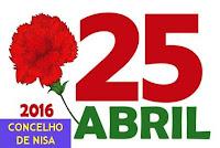 NISA: COMEMORAÇÕES  DO 25 DE ABRIL