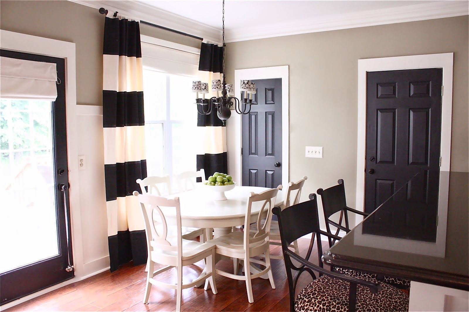 http://thecosmeticallychallengedhome.com/2013/11/01/bring-sexy-black-interior-doors/