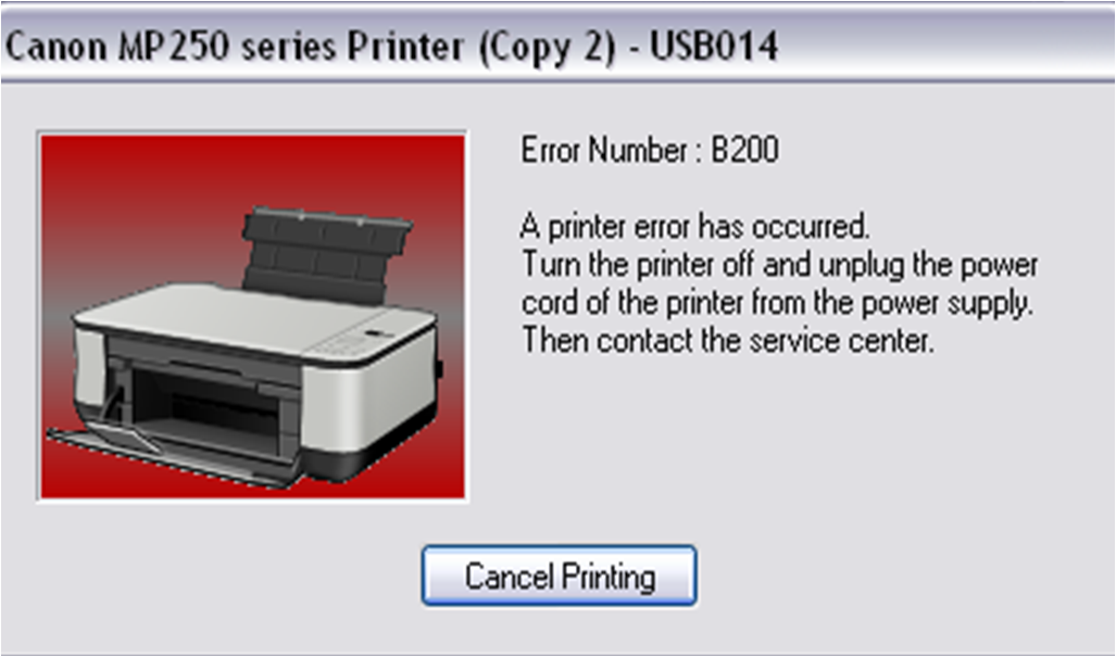 Cara Memperbaiki Printer Canon iP2770, mP258, mP287 Error