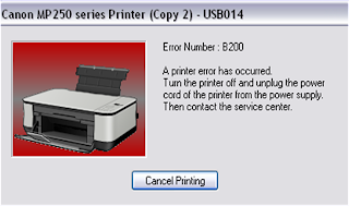 Cara Memperbaiki Printer Canon mP287 Error B200
