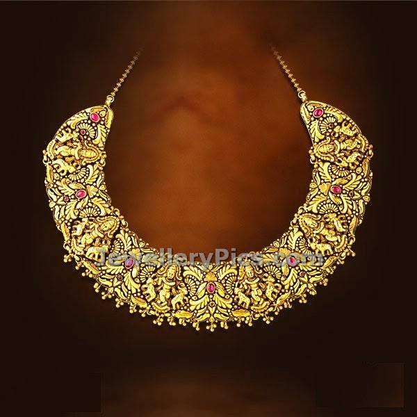 traditional temple necklace