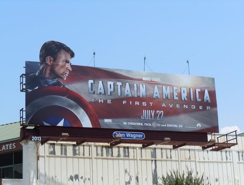 Captain America movie billboard