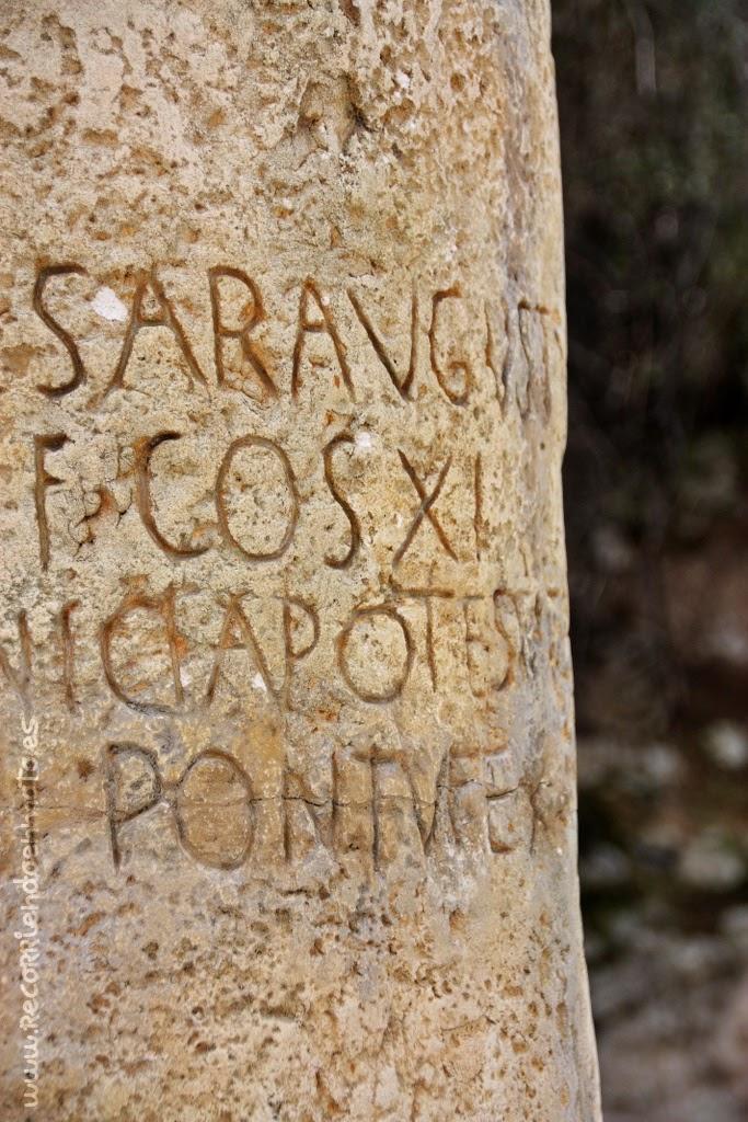 Miliario romano de AUGUSTO. Siglo I a.C.