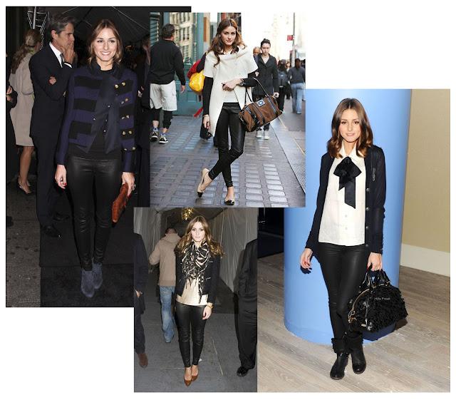 Los mejores looks de Olivia Palermo con pantalón de cuero
