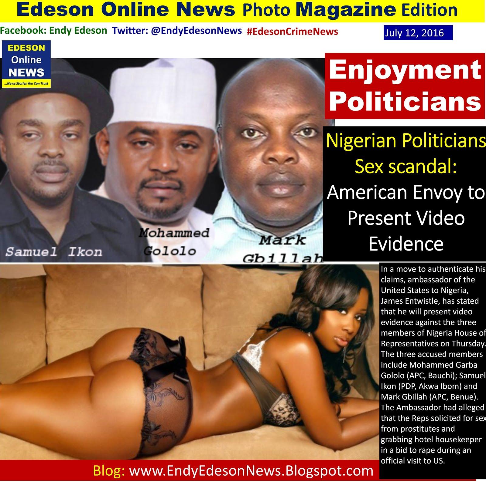 Recent sex scandal in nigeria
