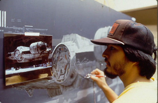 Frank Paints a Ship for Star Wars