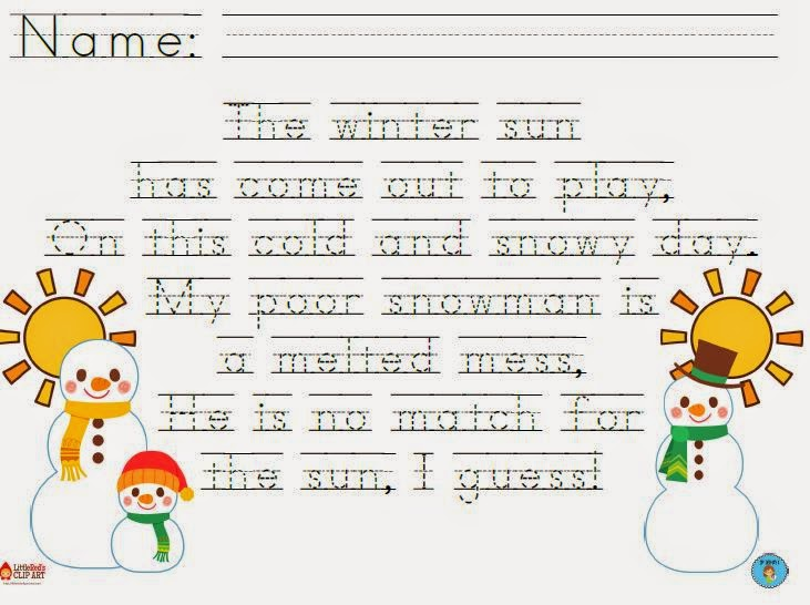 Snowmen at Night Graphic Organizer and Writing