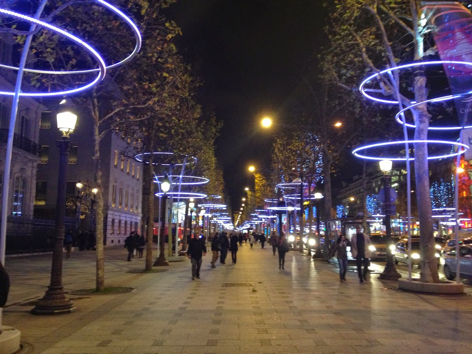 Holiday decorations on the Champs Elysées, Paris (2012)