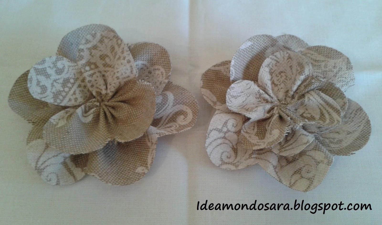 Idea mondo sara tutorial fiori di stoffa for Fiori di stoffa shabby chic