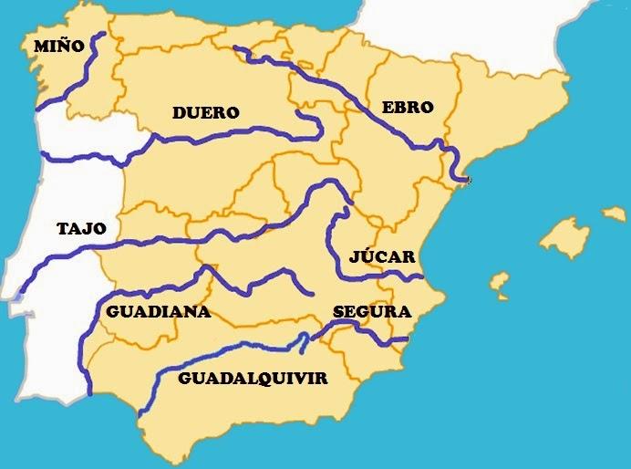 mapa rios mas grandes españa