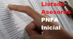 Listado Asesores PNFA INICIAL