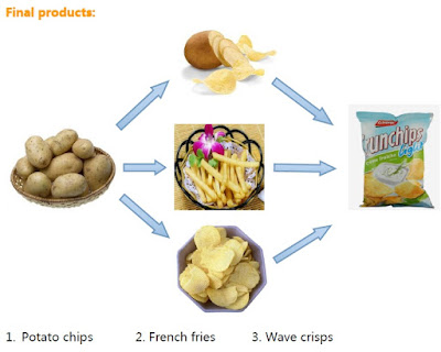 Potato Chips, french fry  and wave crisp Processing