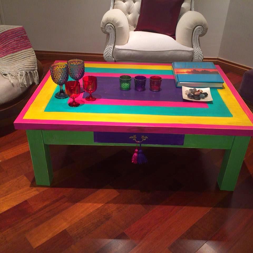 Vintouch muebles reciclados pintados a mano mesa - Disenos muebles pintados ...