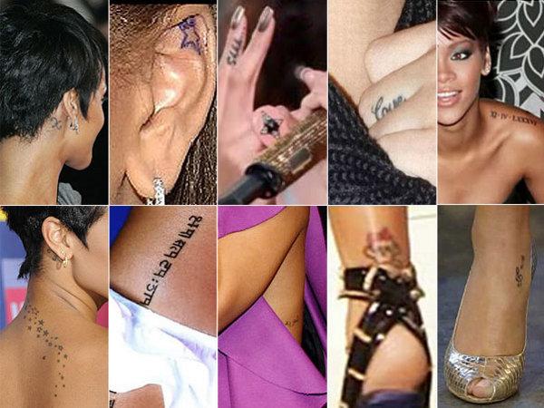tattoo de estrela. Um conjunto de estrelas na