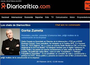 GORKA ZUMETA EN EL CHAT DE DIARIOCRITICO.COM
