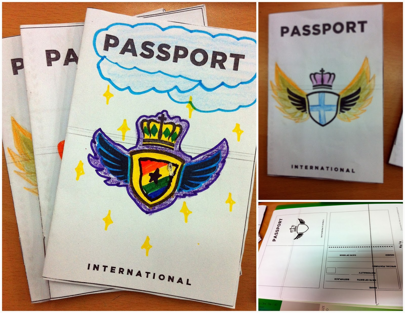 Passport template international children's
