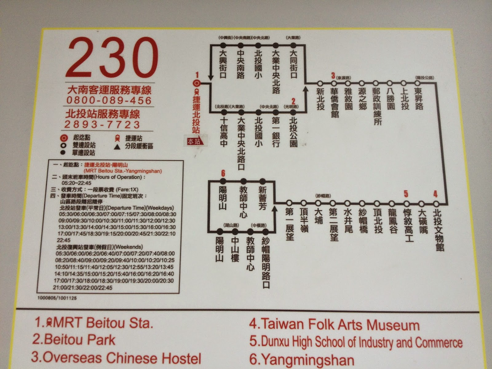how to go yangmingshan from ximending