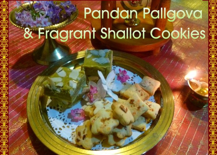 Pandan milk sweet shallot cookies