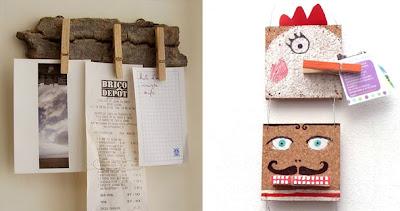 Sujeta-notas con pinzas de la ropa en Recicla Inventa