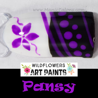 Wildflowers Nail Art Paint Pansy