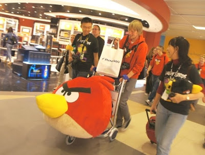 finnair angry birds asian challenge changi airport