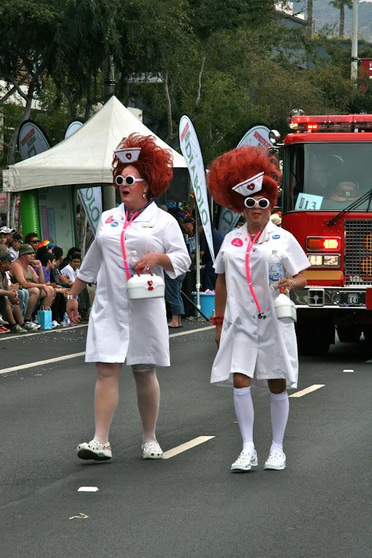 West Hollywood Pride Parade nurses
