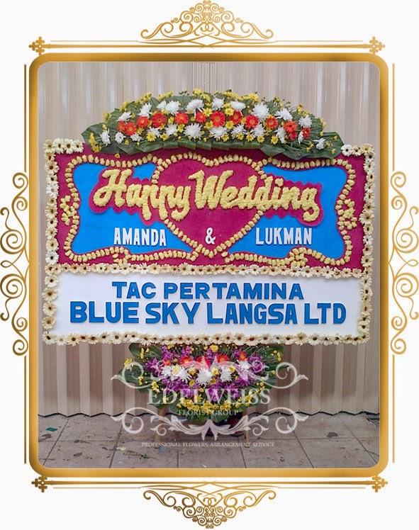 karangan bunga buat orang nikah