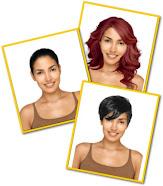 Mude a cor e o corte de seu cabelo com nosso simulador computadorizado
